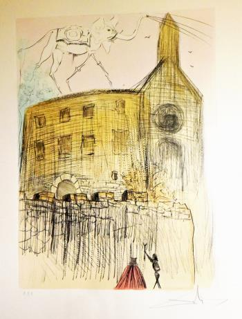 Le chateau de Gala, art for sale online by Salvador Dali