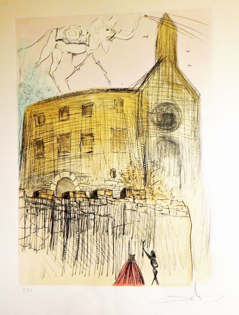 Le chateau de Gala artwork by Salvador Dali - art listed for sale on Artplode
