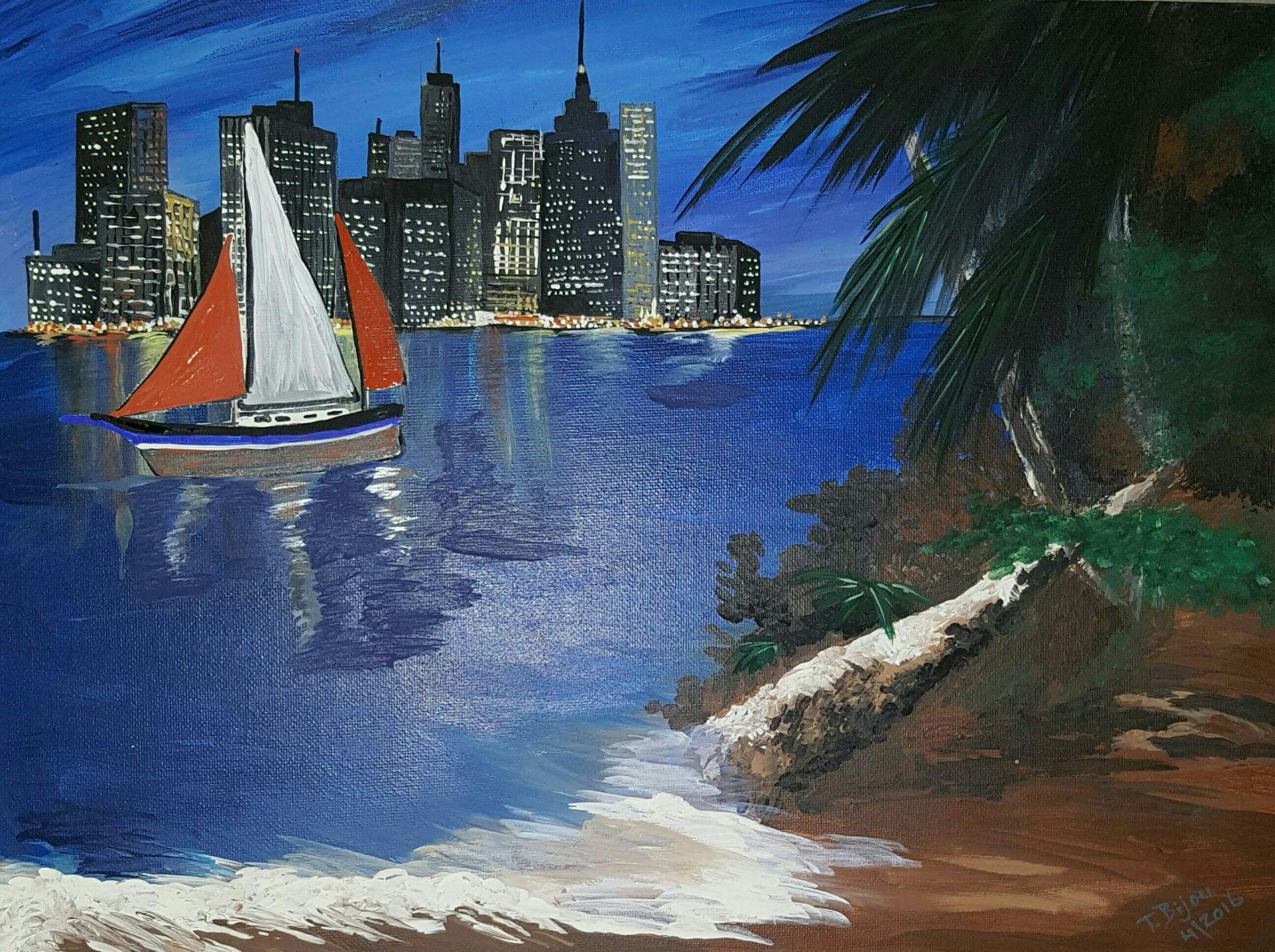 Sail On By artwork by Tammy Bijou - art listed for sale on Artplode