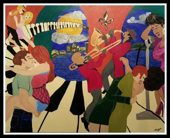 Jazz The Night Away, art for sale online by Tammy Bijou