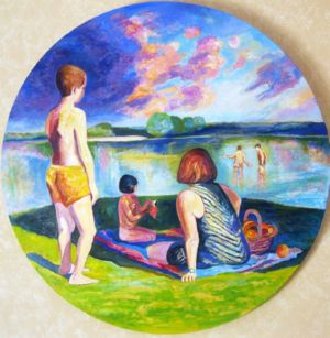 The bath, art for sale online by Gregorio Gigorro