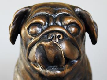 Life Size Pug artwork by Todd Lane