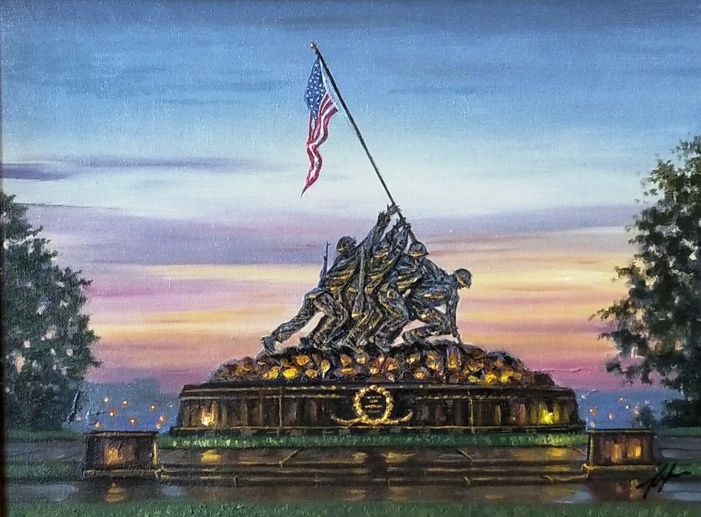 Land of The Free artwork by Robert Finale - art listed for sale on Artplode