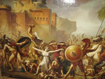 The Intervention of the Sabine Women, art for sale online by Damian Licenzo