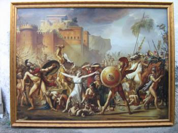 The Intervention of the Sabine Women artwork by Damian Licenzo - art listed for sale on Artplode