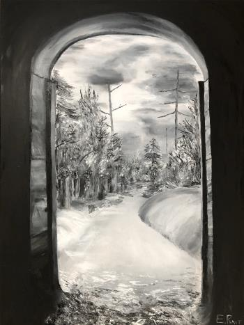 Exit from darkness, art for sale online by Eduard Rait