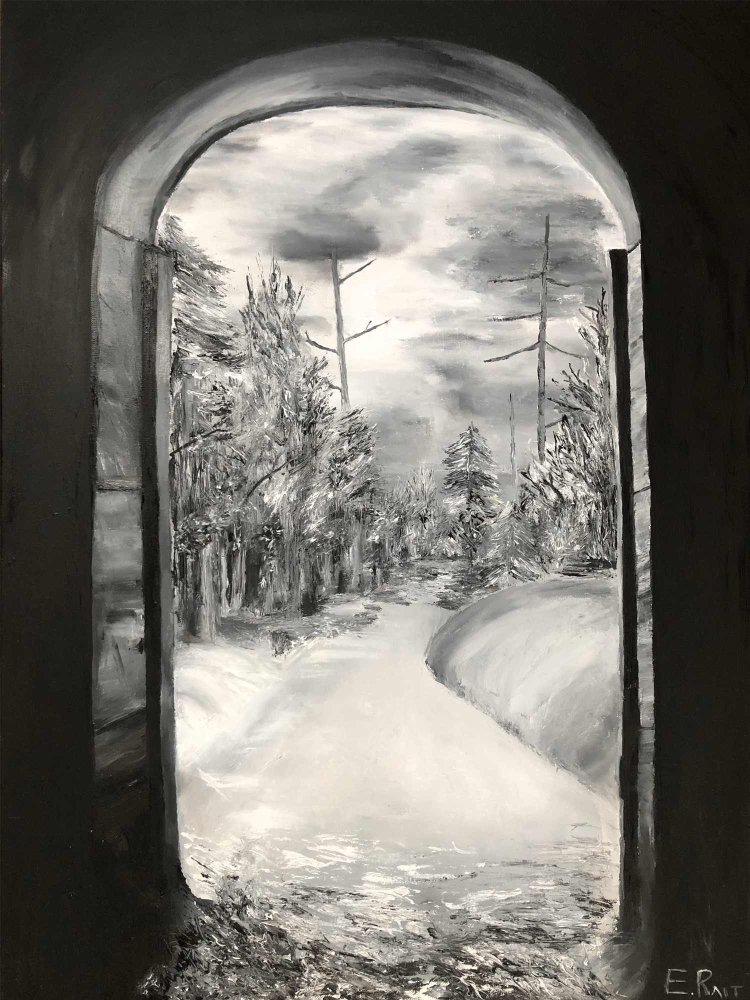 Exit from darkness artwork by Eduard Rait - art listed for sale on Artplode