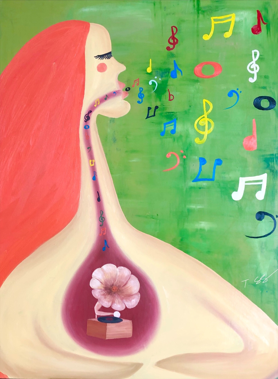Sing artwork by Solongo Turbayar - art listed for sale on Artplode