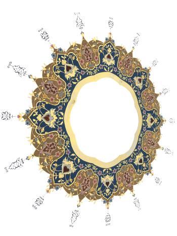 Illumination Tazhib artwork by Neda Roohnia - art listed for sale on Artplode