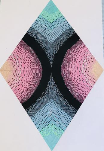 diamond cross section 3, art for sale online by Sara Partch Smith