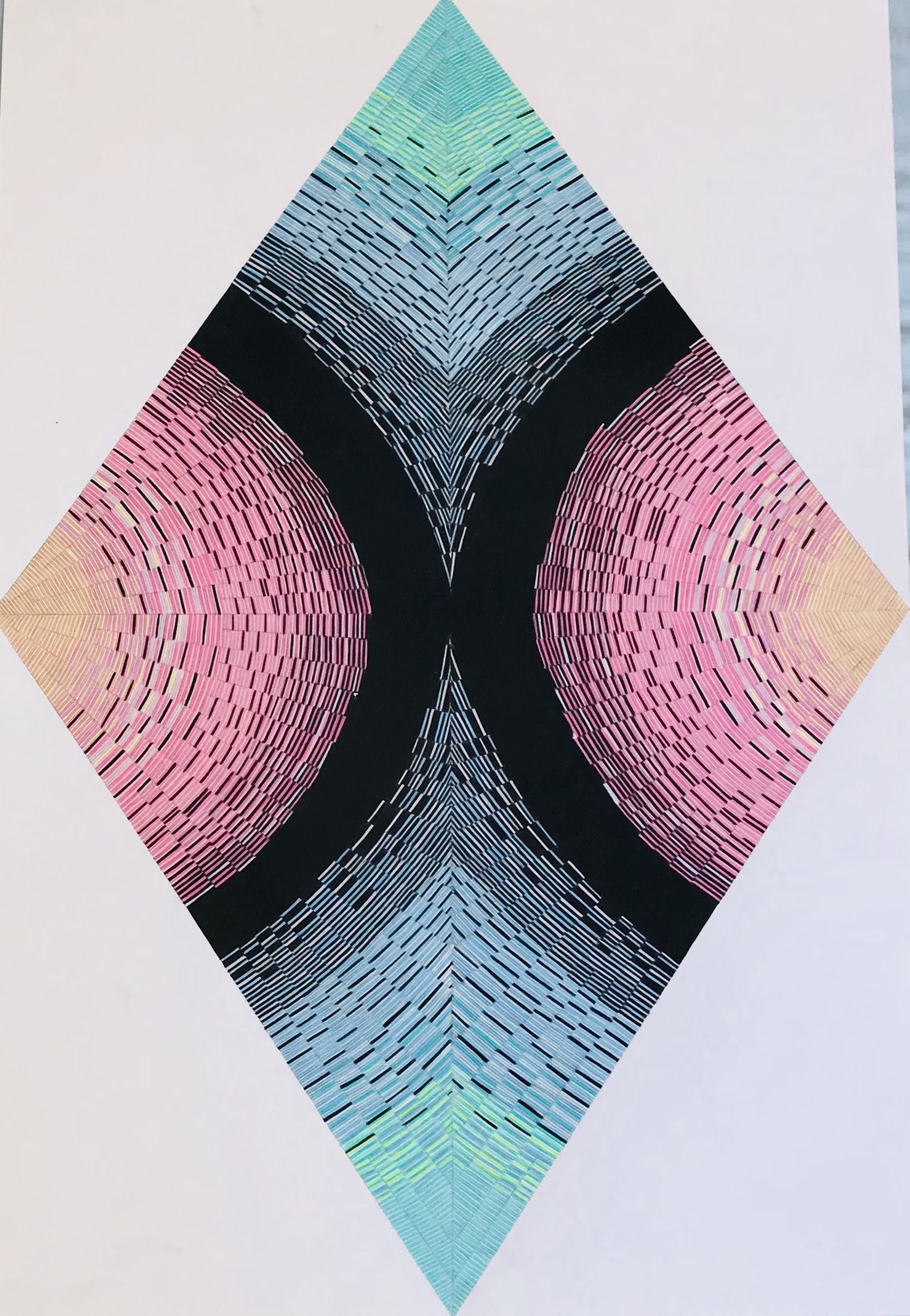 diamond cross section 3 artwork by Sara Partch Smith - art listed for sale on Artplode