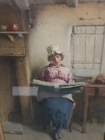 The Latest News artwork by Carlton Alfred Smith - art listed for sale on Artplode