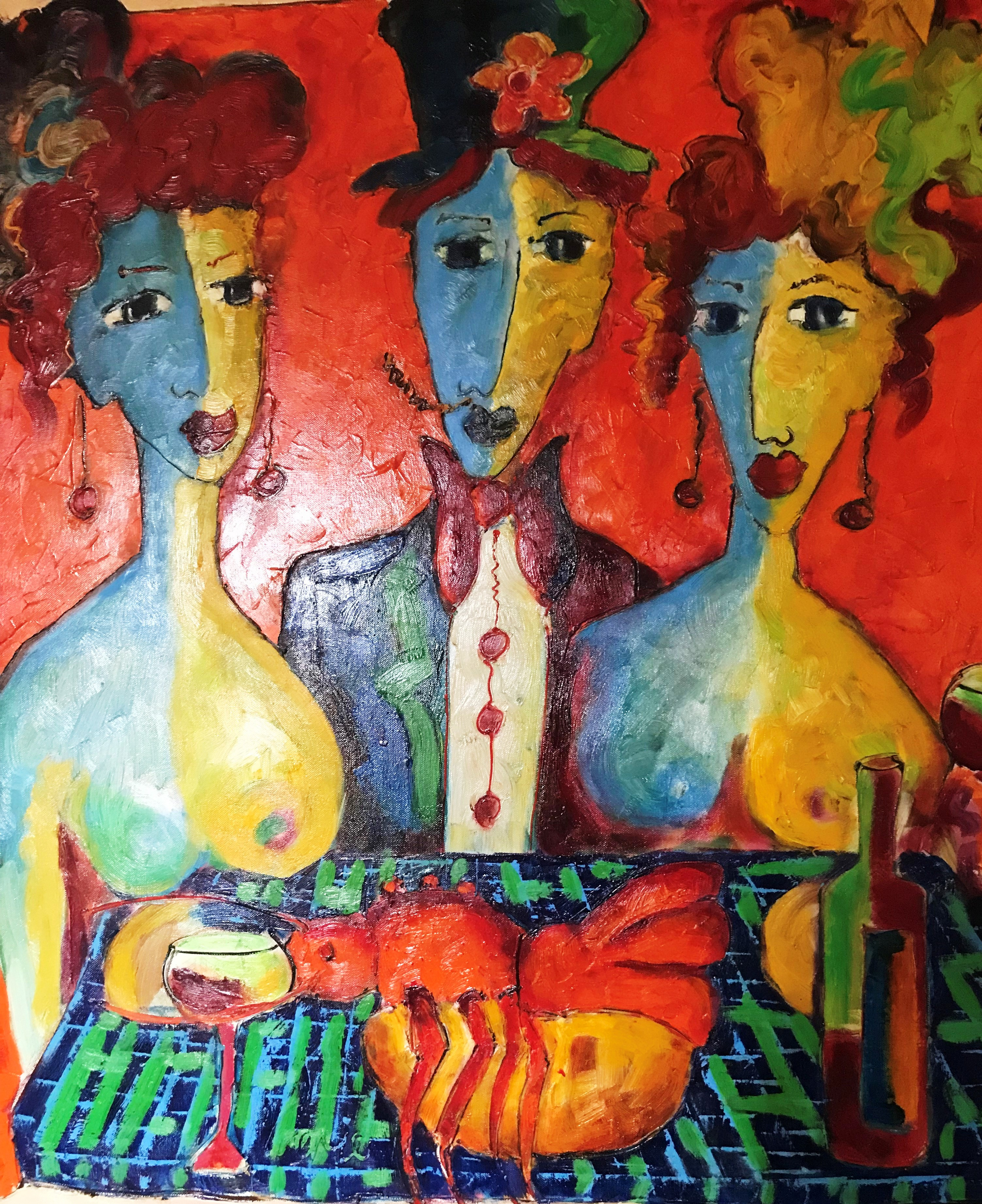 The Party Too artwork by Laurens Barnard - art listed for sale on Artplode