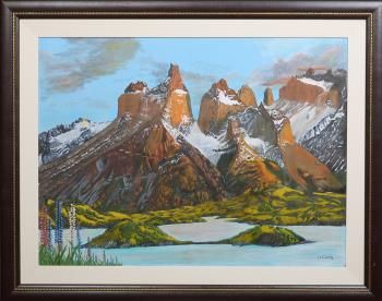 Torres del Paine, art for sale online by James Lowery