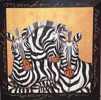 Zebras, art for sale online by Luis Sottil