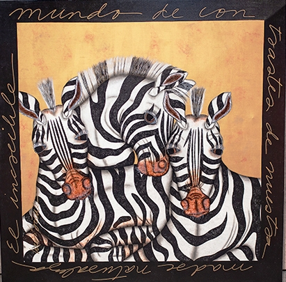 Zebras artwork by Luis Sottil - art listed for sale on Artplode