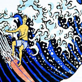 Santa Barbara Wave artwork by Harry Chandler