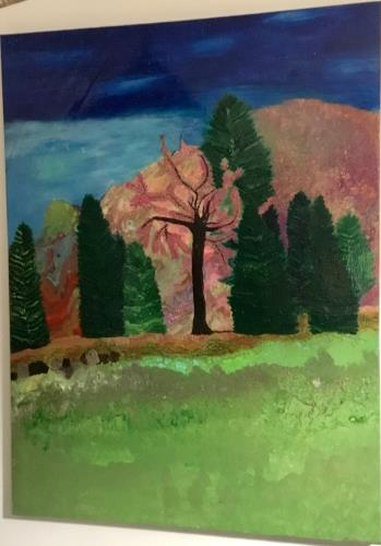 Enchanted Forest  artwork by Tracy Heslop - art listed for sale on Artplode