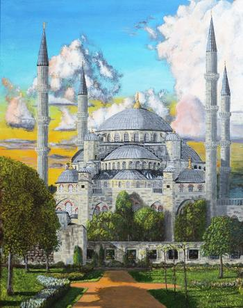Blue Mosque, art for sale online by James Lowery