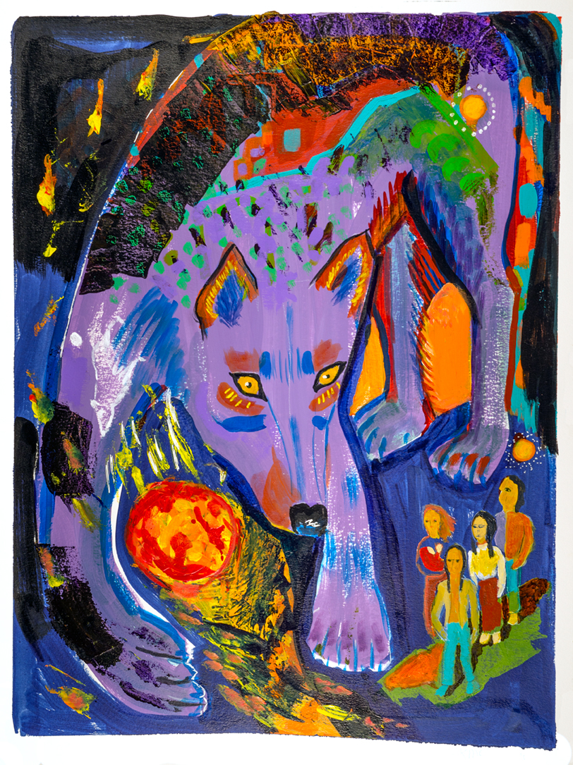 Wolf Moon artwork by HK McAllister - art listed for sale on Artplode