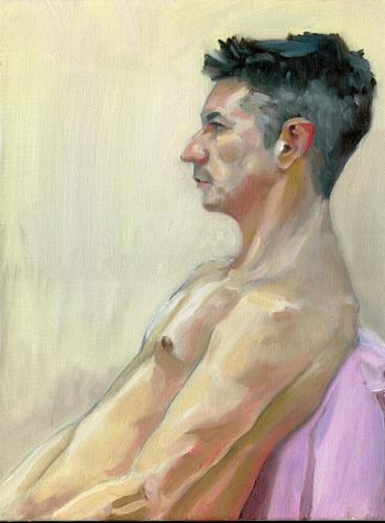 Richard profile, art for sale online by Simon Goss