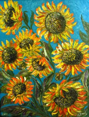 My Sunflowers, art for sale online by Elena Roush