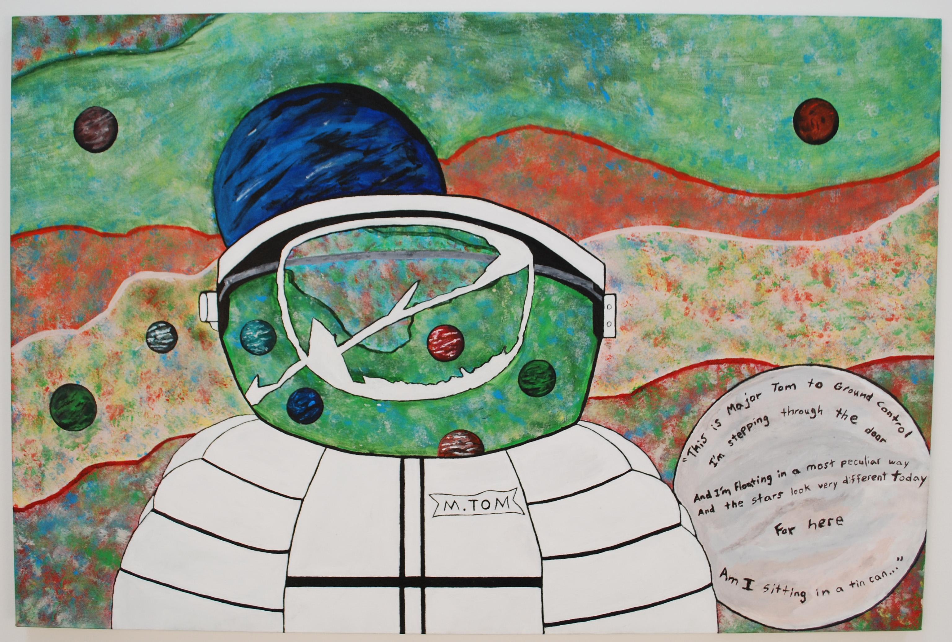 Space Oddity Major Tom artwork by Emilio Bravo - art listed for sale on Artplode