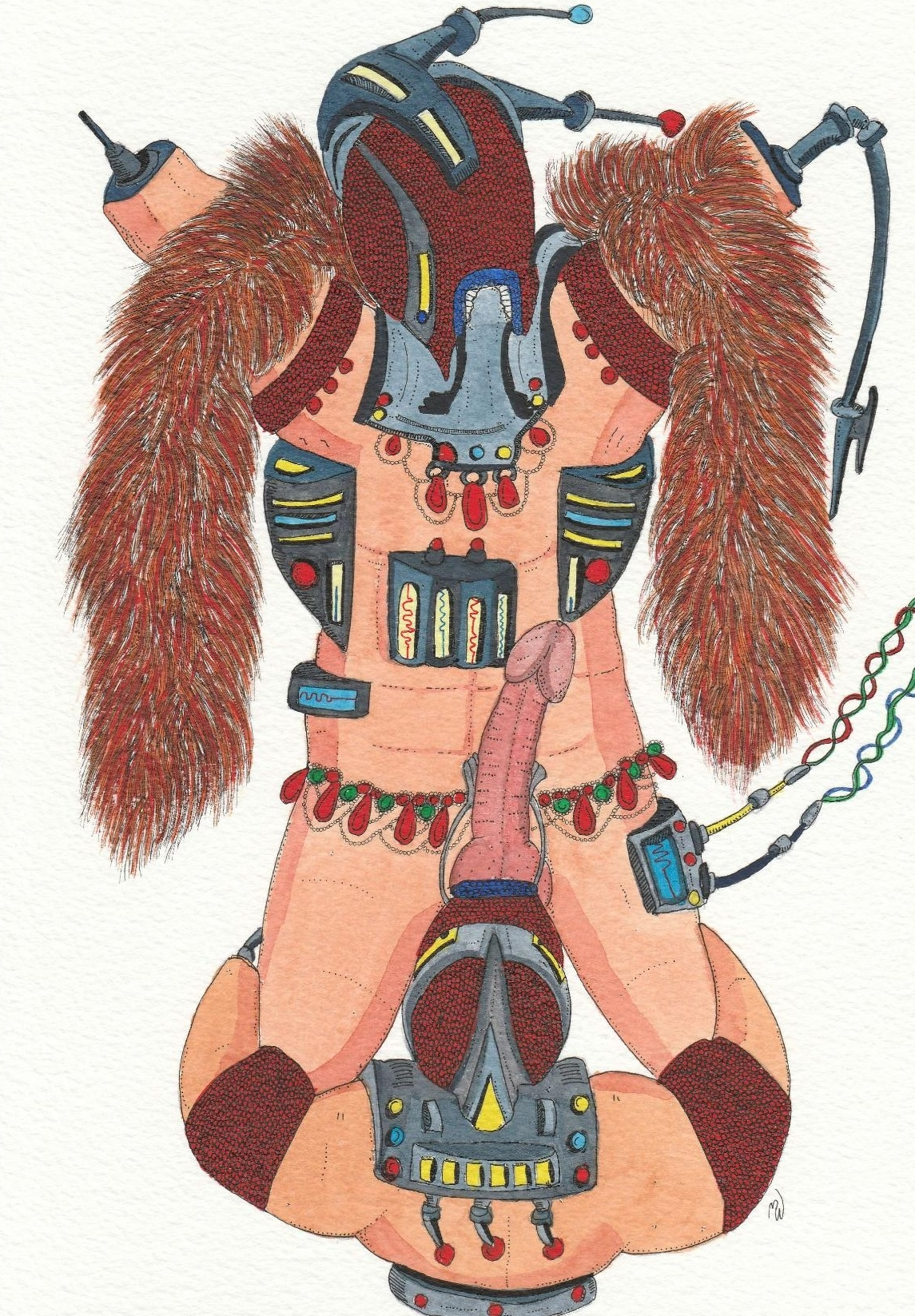Chieftan artwork by Mary Webster - art listed for sale on Artplode
