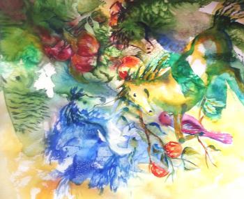 Abstract Horses artwork by Kim Shuckhart Gunns - art listed for sale on Artplode