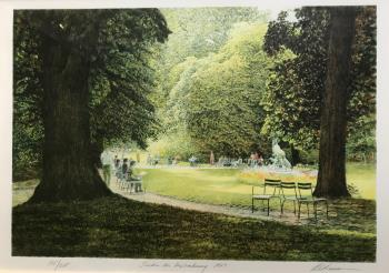 Jardin du Luxembourg 1987, art for sale online by Harold Altman