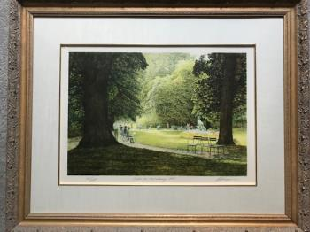 Jardin du Luxembourg 1987 artwork by Harold Altman - art listed for sale on Artplode