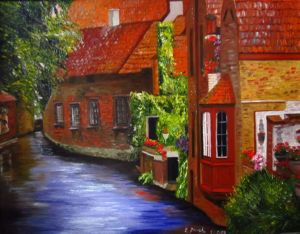 Bruges Belgium, art for sale online by Elena Roush