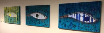 Turquoise Series looking into your eyes of your soul, art for sale online by Bob Rispoli