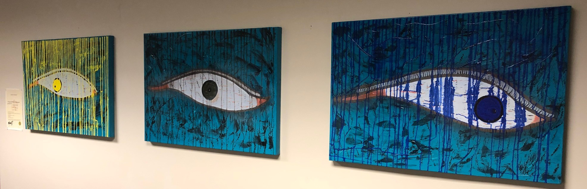 Turquoise Series looking into your eyes of your soul artwork by Bob Rispoli - art listed for sale on Artplode