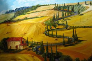 Rolling Hills of Tuscany , art for sale online by Elena Roush