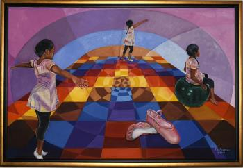 The Brides World In Five Hues artwork by Reginald Robinson - art listed for sale on Artplode