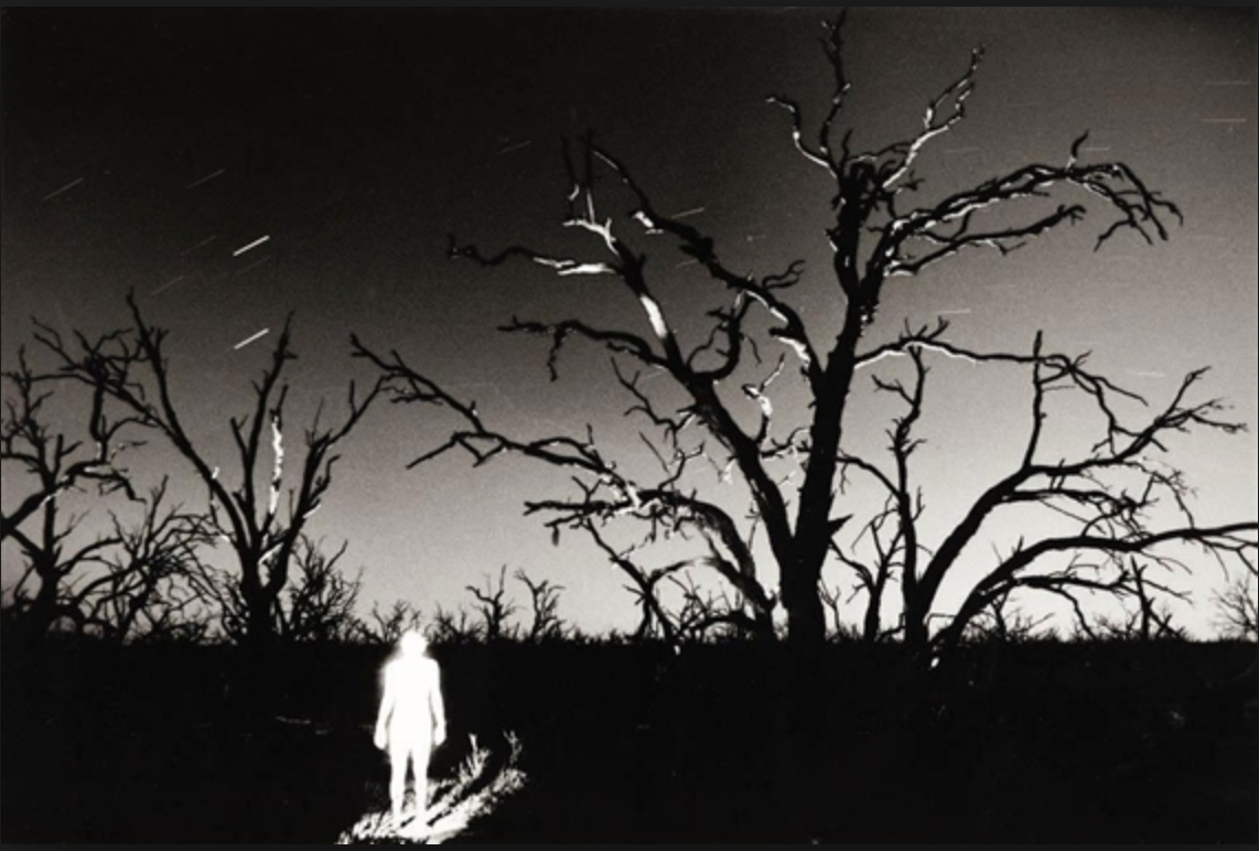 Midnight self portrait Menindee Outback NSW artwork by Trent Parke - art listed for sale on Artplode