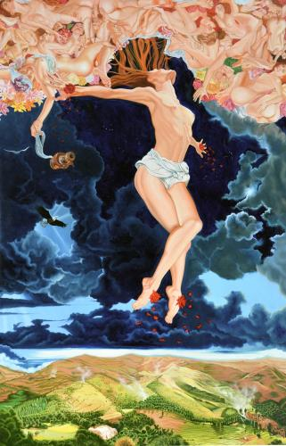 The Crucifixion of the Feminine Principle, art for sale online by Anthony Christian