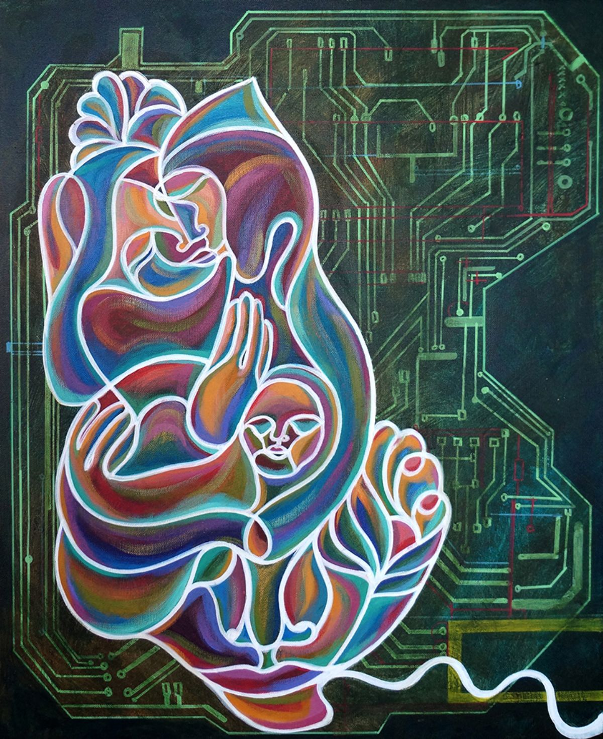 Mother Board Placenta artwork by Ekaterina Abramova - art listed for sale on Artplode