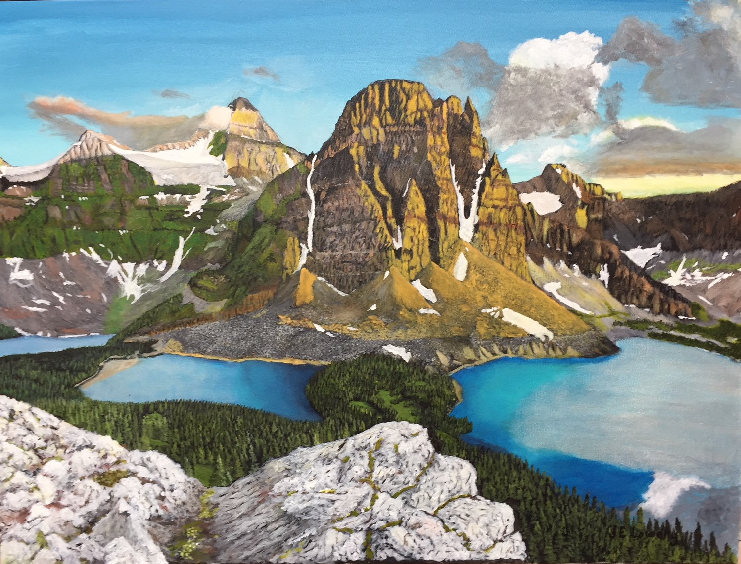 Nub Peak artwork by James Lowery - art listed for sale on Artplode