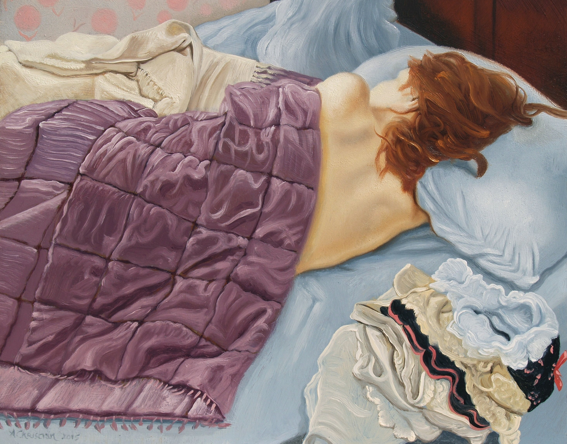 Fanny Sleeping  artwork by Anthony Christian - art listed for sale on Artplode