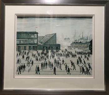Going to the match, art for sale online by Laurence Stephen Lowry