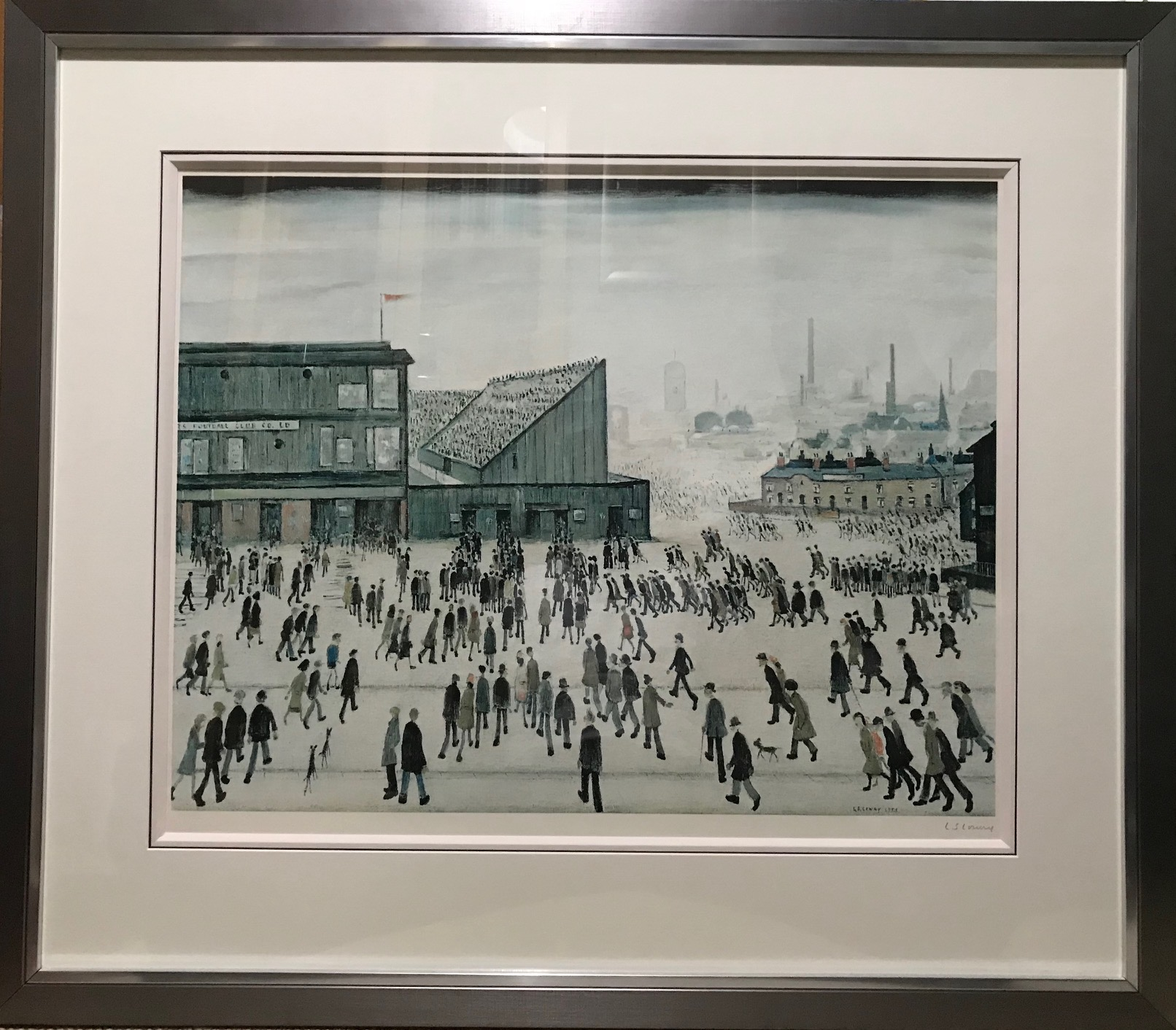 Going to the match artwork by Laurence Stephen Lowry - art listed for sale on Artplode