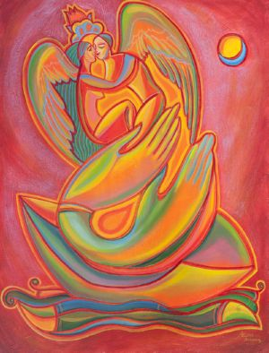 Breath of Love, art for sale online by Ekaterina Abramova