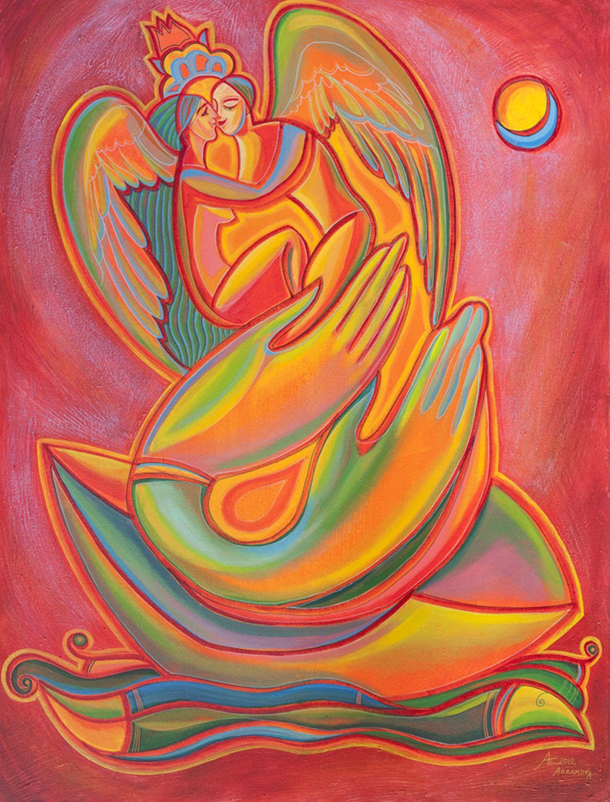 Breath of Love artwork by Ekaterina Abramova - art listed for sale on Artplode