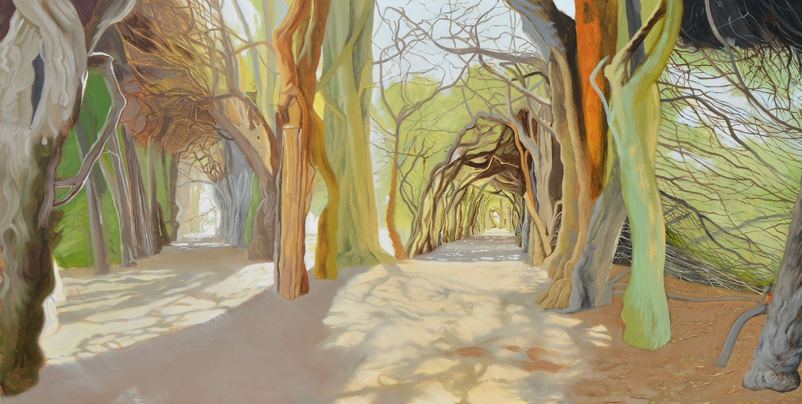 The Yew Walk Gormanston Ireland artwork by Anthony Christian - art listed for sale on Artplode