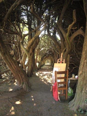 The Yew Walk Gormanston Ireland artwork by Anthony Christian