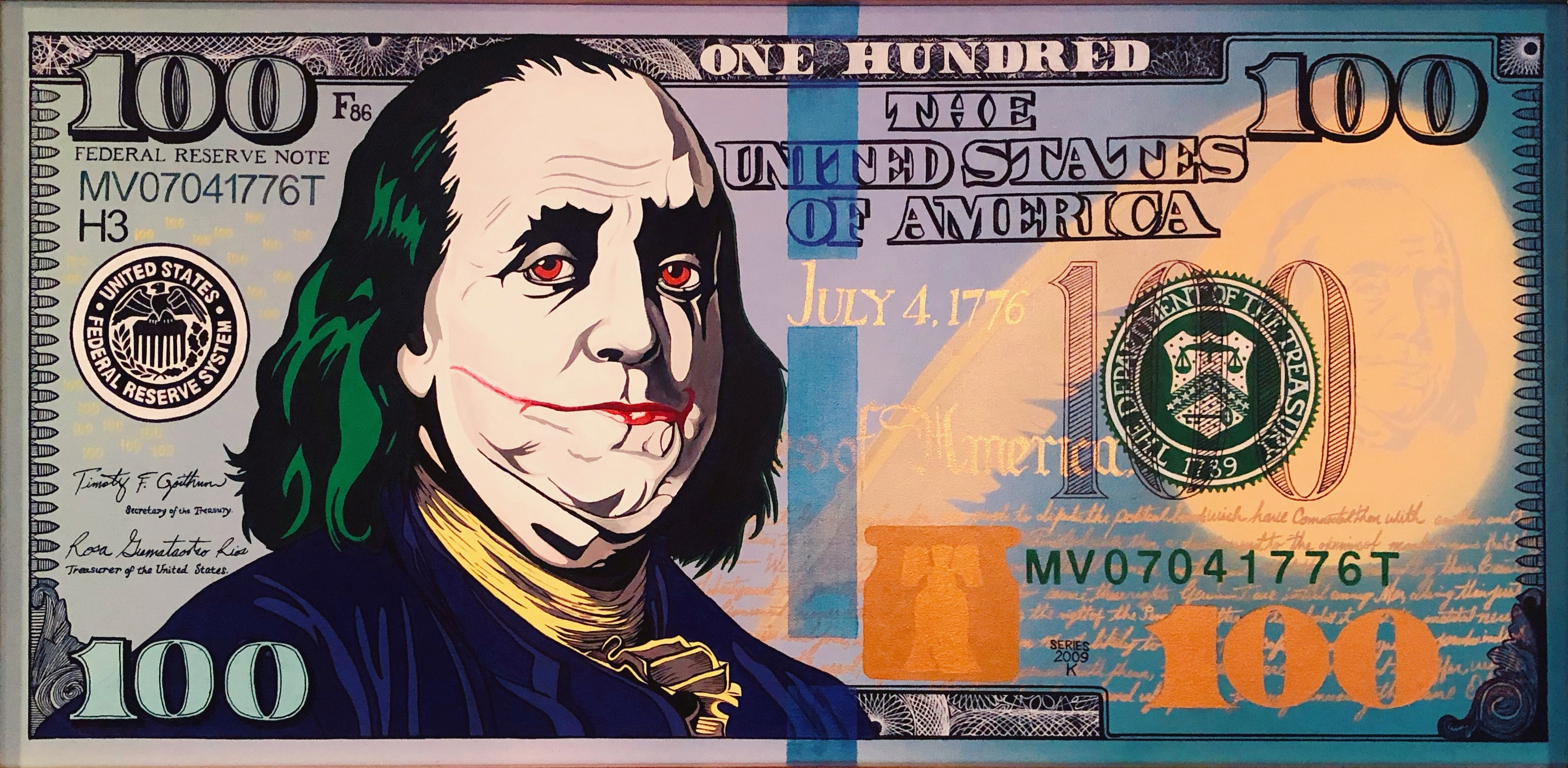 Money is a Joke artwork by Manuel Valdovinos - art listed for sale on Artplode