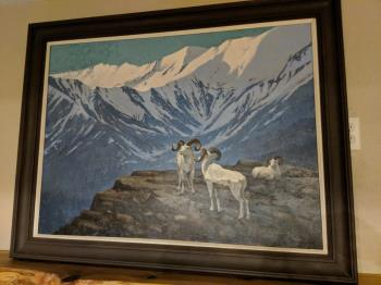 Mountain Goat, art for sale online by William Schumpert