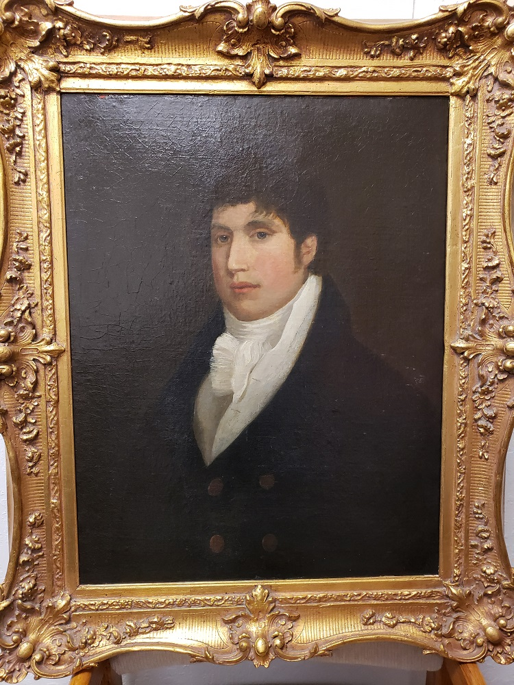 Portrait of a Gentleman artwork by 19th century artist - art listed for sale on Artplode